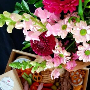 Small Savoury Hamper with Flowers