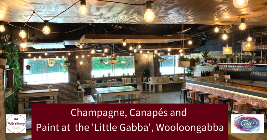 Champagne, Canapés & Paint at the 'Little Gabba'