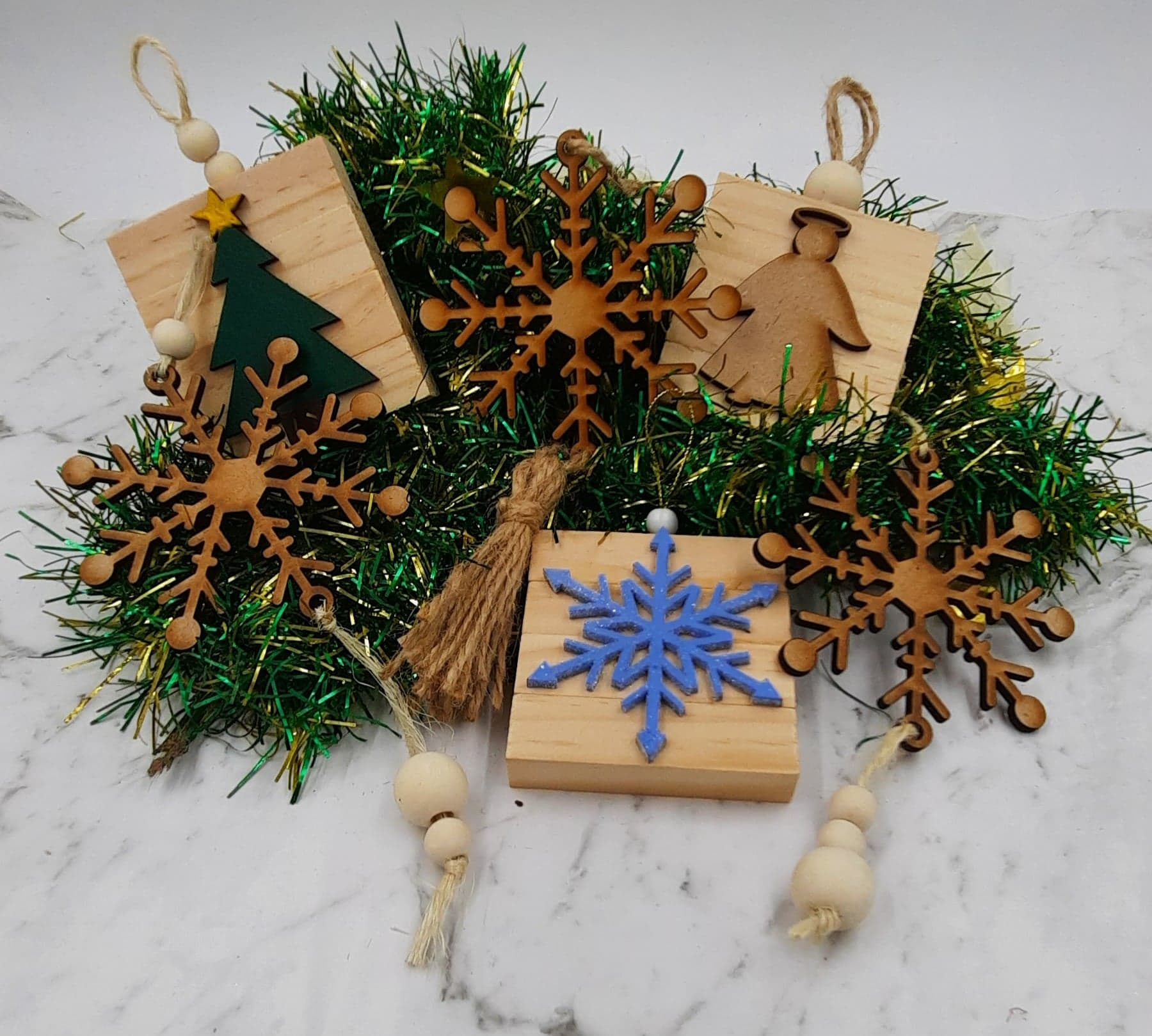 Boho Christmas Ornaments