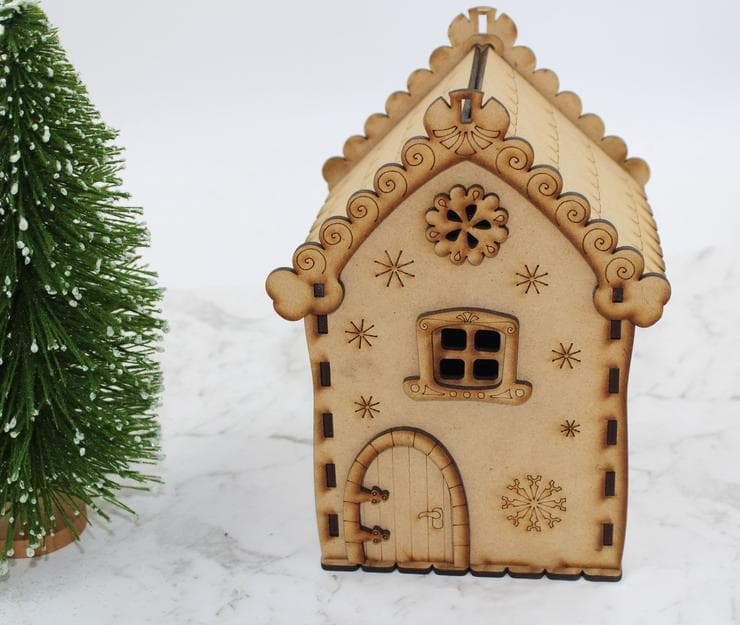 Christmas Gingerbread House Making (Wooden)